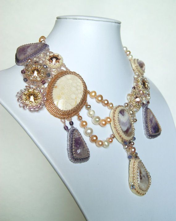 Necklace The Thaw spring purple amethyst the by LoveBeadJewerly