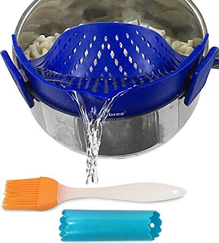 Clip-on kitchen food strainer for spaghetti, pasta, groun... https://www.amazon.com/dp/B01N2MLCH7/ref=cm_sw_r_pi_dp_x_e7QqzbE033QQ4