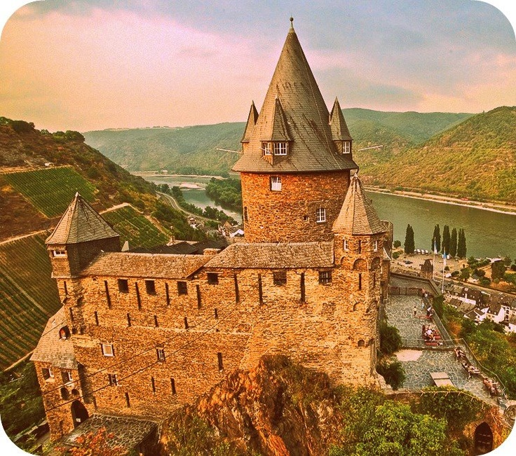 12th century castle in Rhine Valley, Germany