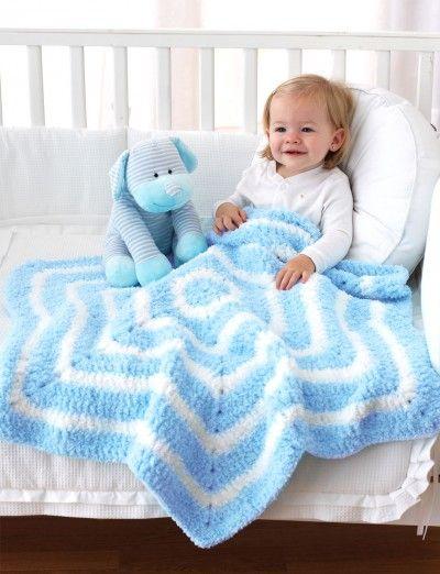 Star Blanket using Bernat Pipsqueak - Free pattern available at Yarnspirations