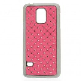Galaxy S5 mini vaaleanpunaiset luksus kuoret