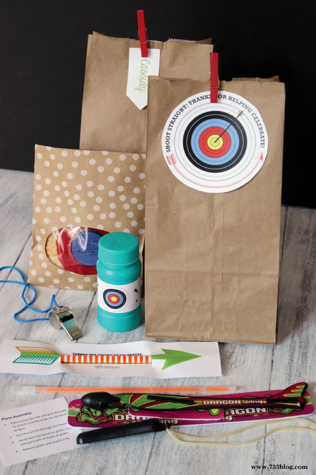 Archery Birthday Party Favors