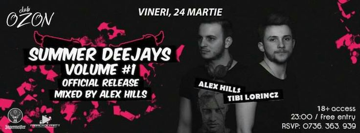 SUMMER DEEJAYS Vol.1 mixed by Alex Hills, official release this friday @Ozon w. Alex Hills & Tibi Lorincz #summerdeejays #alexhills #tibilorincz #volume1