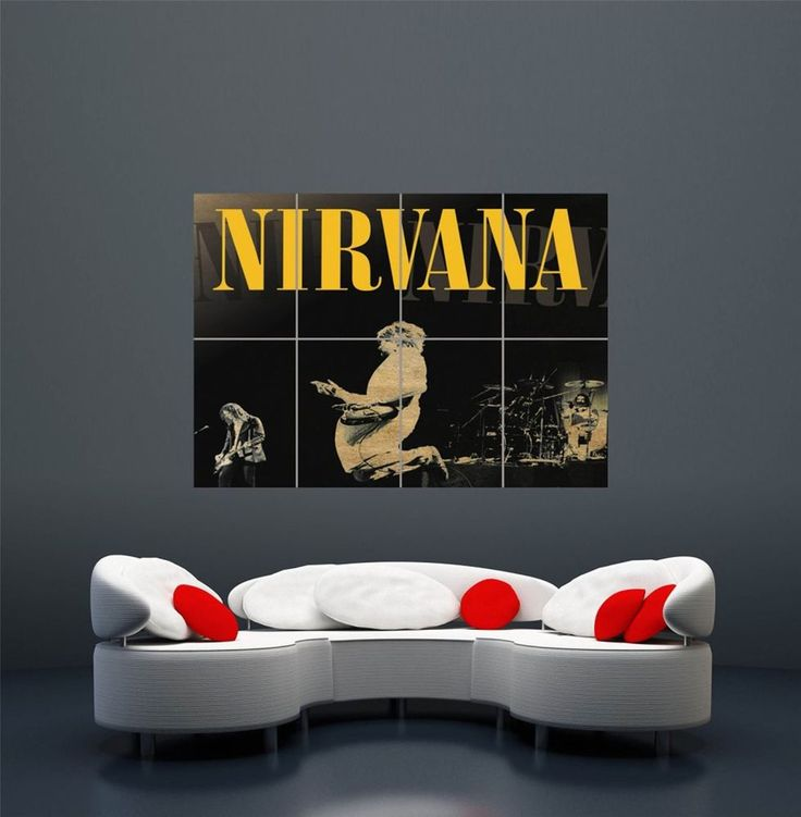 details about nirvana live at reading giant wall art print poster picture wa146