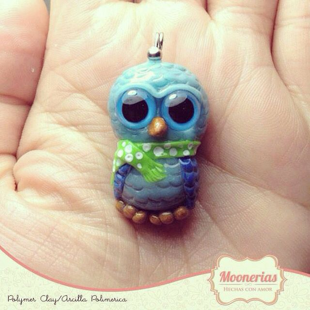 Polymer clay Owl/búho de arcilla polimerica, you can buy it on etsy and kichink or facebook