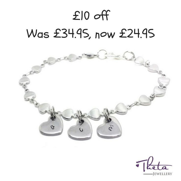 The most dainty, beautiful and popular Theta Jewellery bracelet perfect for that special friend or loved one! https://www.thetajewellery.co.uk/product/initial-heart-bracelet/