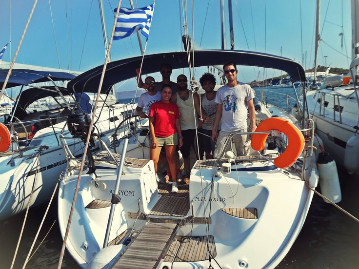 During check in with awesome people at Lavrion main port, S/Y ALKYONI Bavaria 50 Cruiser Welcome on board and have a nice sailing time with Kekeris Yachts!!!