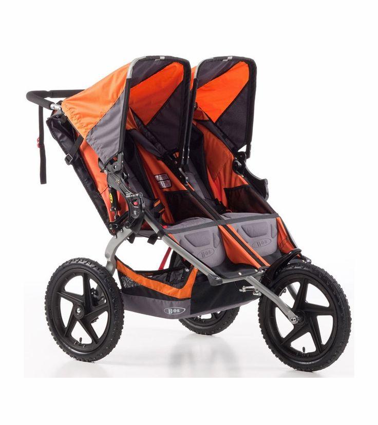 BOB Sport Utility Stroller Duallie Double Stroller Orange