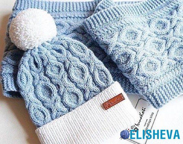 Красивые и трендовые женские шапки вязаные спицами   Блог elisheva.ru