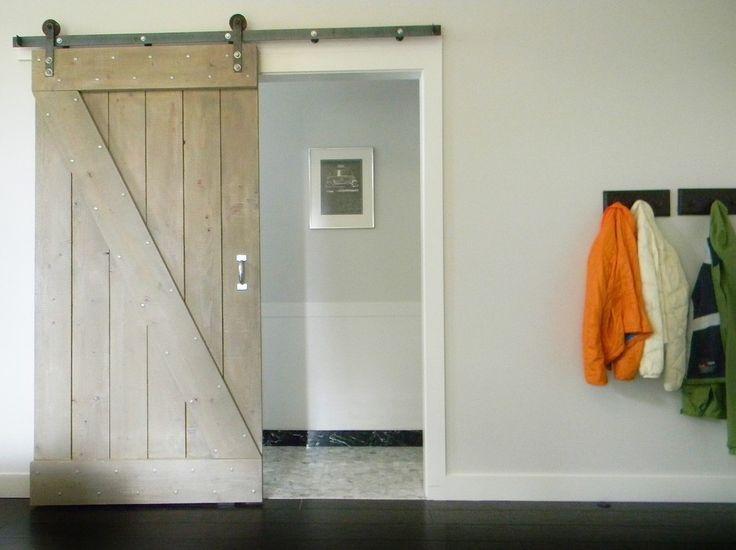 modern farmhouse decor Bedroom Farmhouse with barn doors bathroom ...