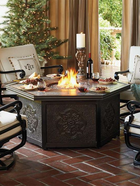 Enjoy summer nights with your guests gathered around the gorgeously detailed Imperial Custom Gas Fire Table.Backyards Things, Gas Fire, Outdoor Living, Fire Tables, Custom Gas, Outdoor Area, Imperial Custom, Stained Glasses, Fire Pit