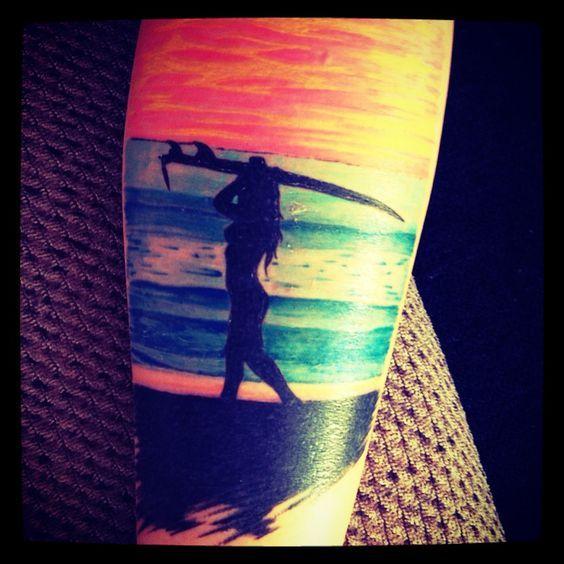 Tia Blanco Surf Tattoo ocean sea beach tattoo