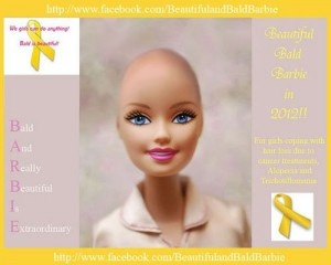 Barbie doll for cancer patients. :)