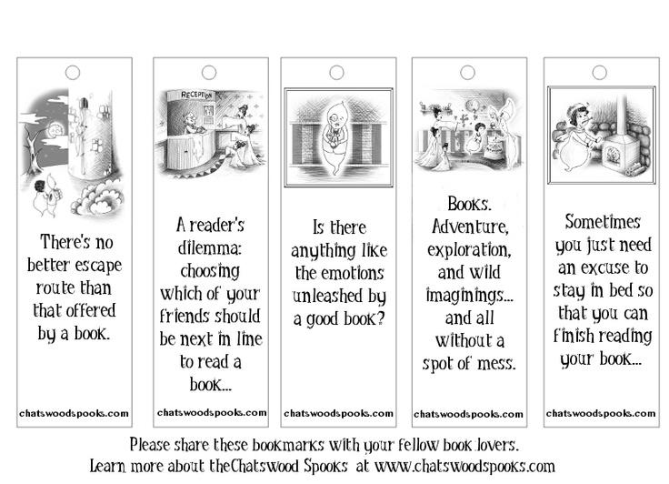Chatswood Spooks printable bookmarks!
