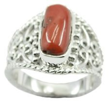 Coral 925 Sterling Silver Ring bewitching Red suppiler AU gift