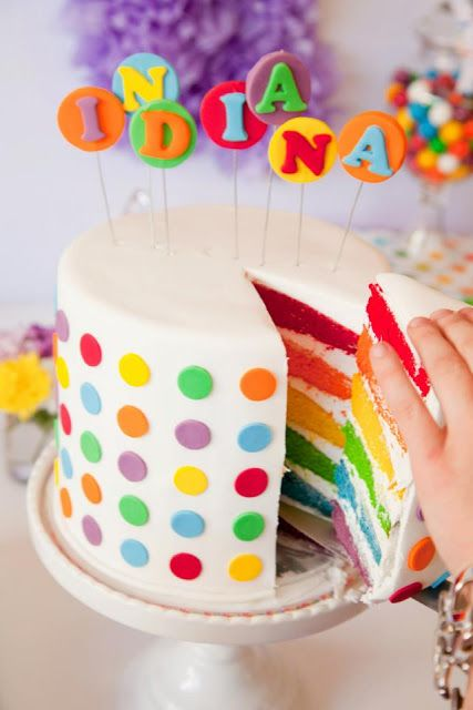 A Gorgeous Rainbow Lollipop Party by Jo Studio.  Photography - White Spark Photography Cakes & Sweets - Carli Milburn