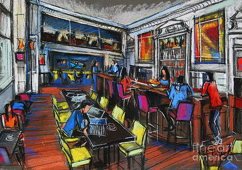 Mona Edulesco - FRENCH CAFE INTERIOR