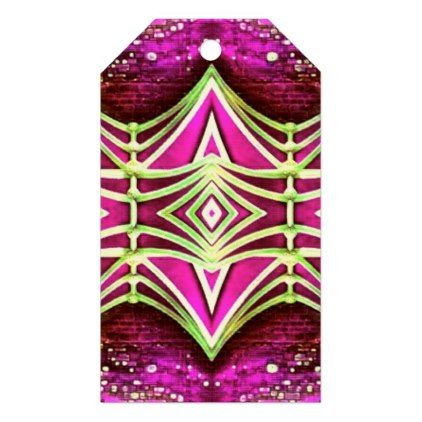 Psychedelic Festival Rave Gift Tags