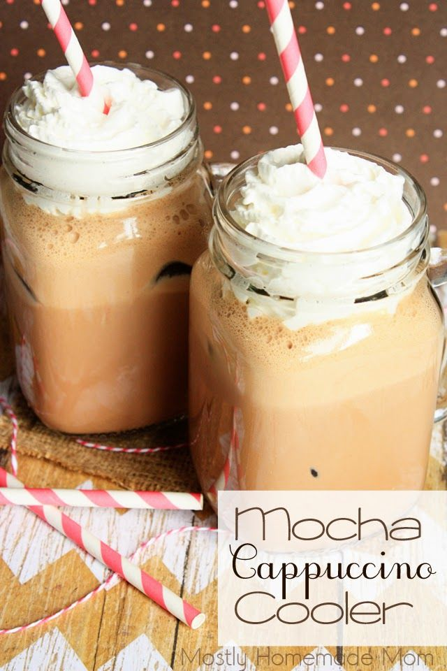 Mocha Cappuccino Cooler - A delicious way to use up the cold coffee in the pot! Blended with chocolate ice cream and chocolate syrup, this is one of the best iced coffees I've ever had! #SunsOutSpoonsOut #ad