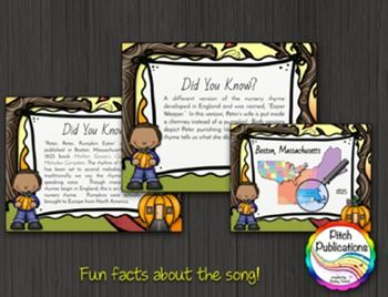 """Need a way to introduce """"Peter, Peter, Pumpkin Eater"""" to your students? Look no further! This is the perfect resource to engage your students in singing this amazing song! #elmused #pitchpublications #tptmusictribe #kodaly #orff"""