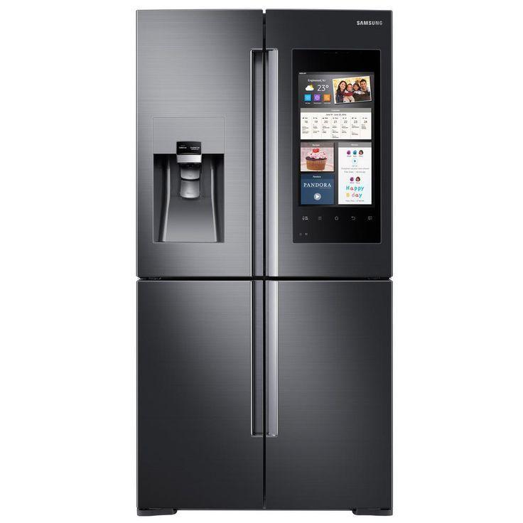 Samsung Refrigerator Gadgets In 2020 French Door Refrigerator Samsung Family Hub Samsung Refrigerator
