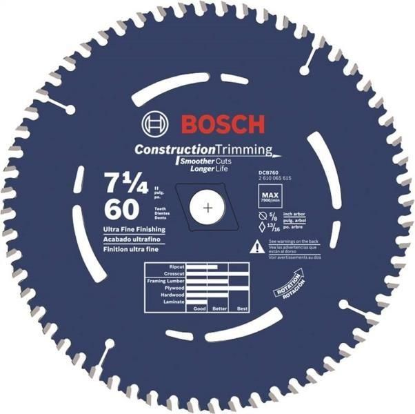 "Bosch DCB760 Circular Saw Blade, 7-1/4"""