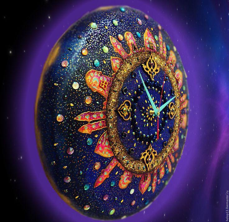 Купить или заказать Часы большие 'Восточная сказка'... в интернет-магазине на Ярмарке Мастеров. Часы большие 'Восточная сказка'... Смешанная техника.