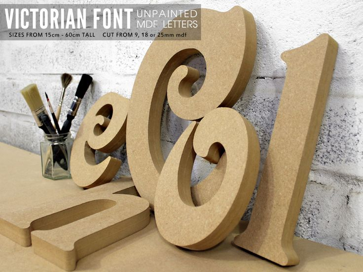 mdf letters in victorian font cut from mdf
