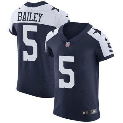 Nike Cowboys #5 Dan Bailey Navy Blue Thanksgiving Men's Stitched NFL Vapor Untouchable Throwback Elite Jersey