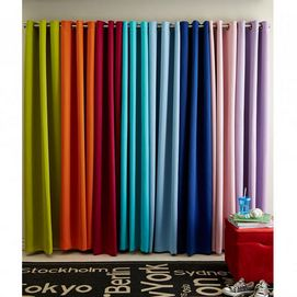 These Curtains Add Colour To Your Space While Blocking Light Due To Their  Woven Blackout Feature. Great Way To Make A Bold Statement In Any Room
