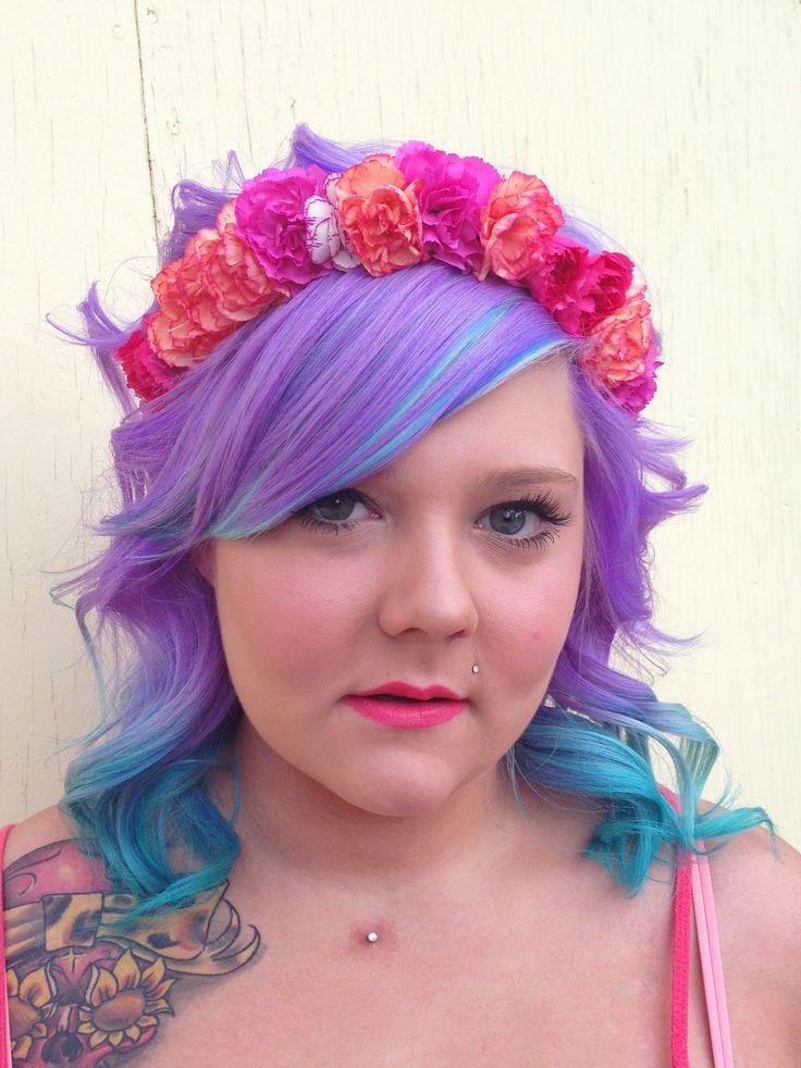 Flower Crown.  DIY.  Flat iron curls.  Hair & flower crown by Heather Chapman. www.facebook.com/iloveheatherchapmanhair