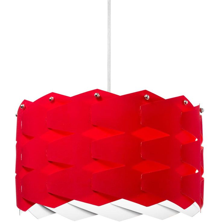 Filament Design 1-Light Red Pendant