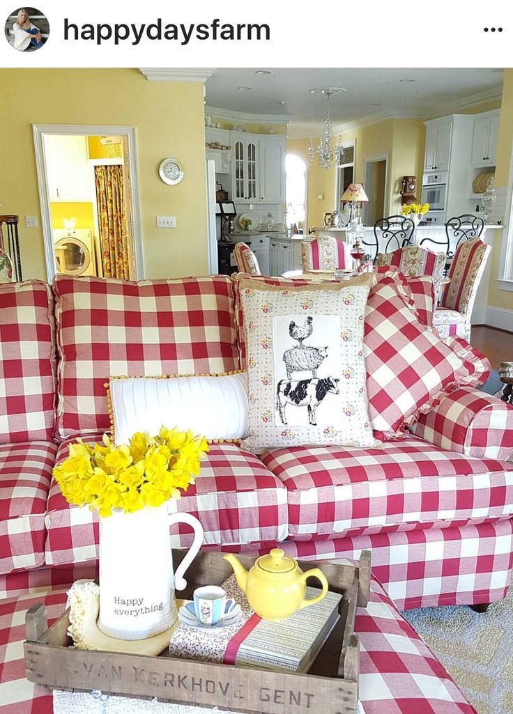 17 best ideas about gingham decor on pinterest xmas for Gingham decorating ideas