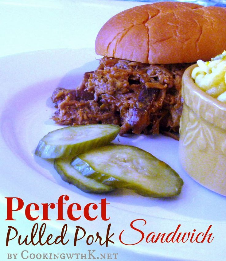 Perfect Pulled Pork Sandwich