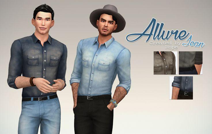 Un Sims au bout du fil. - Denim Allure Shirt for the Sims 4. It's just a...