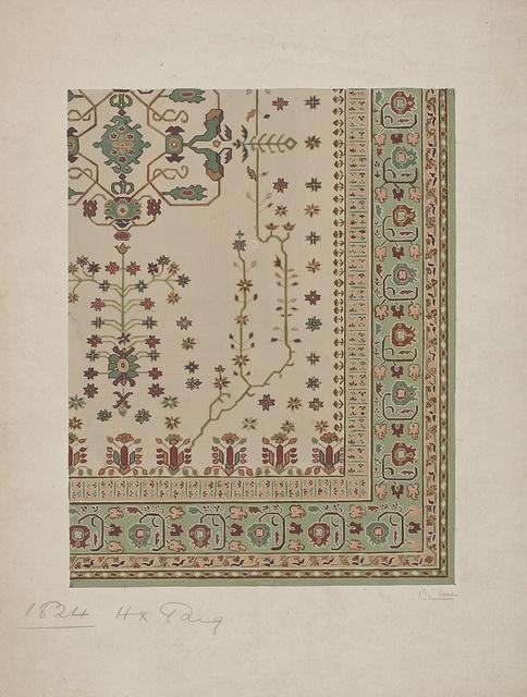 Stoddard-Templeton Design: Assorted Persian Border Squares (STOD/DES/110/27)