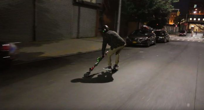 KickStick is a Battery-Powered, Self-Propulsion System That Makes Skateboards Go…