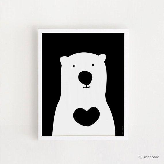 INSTANT DOWNLOAD - Wall art - cute Bear - home decor poster -kawaii baby room art -decor print nursery - digital file -printable