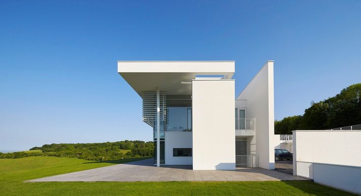 Richard Meier models all-white Oxfordshire residence on English manor houses  ~ Great pin! For Oahu architectural design visit http://ownerbuiltdesign.com
