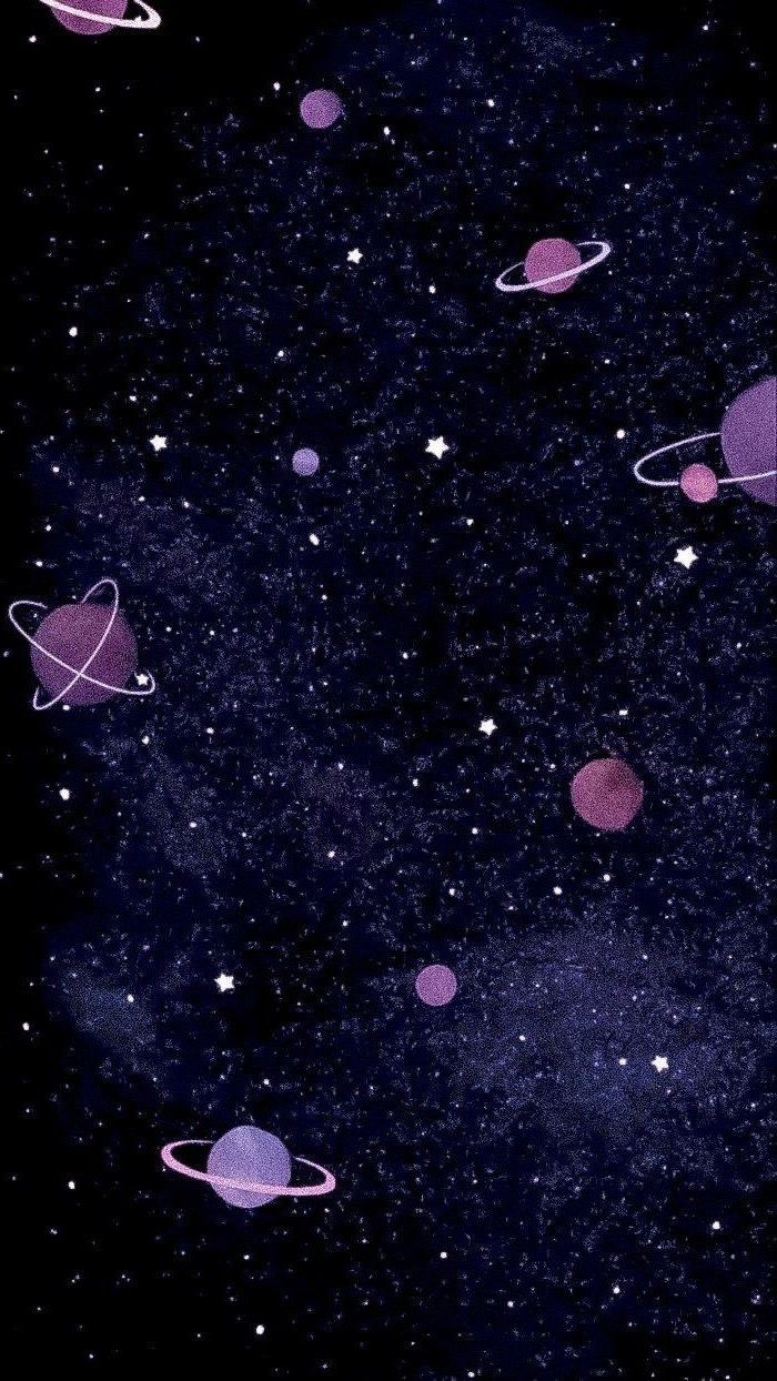 Some of us work at our computers for many hours during the day and night, but there's no reason you can't bring a little fun and charm to your desk by personalizing your computer's wallpaper. cartoon-image-of-different-planets-and-stars-on-dark
