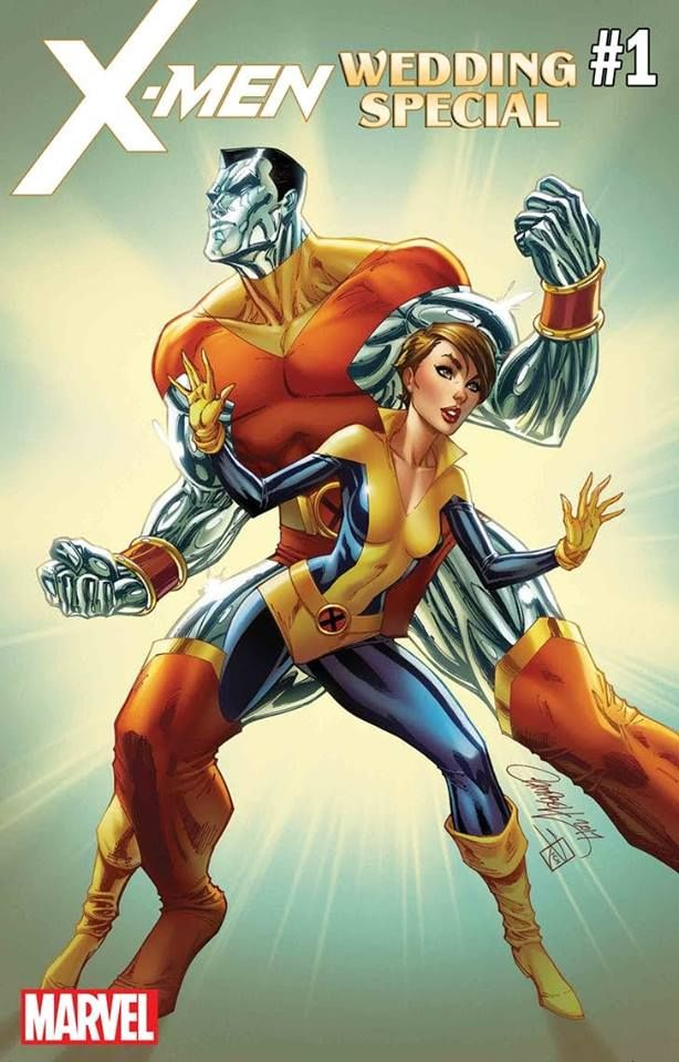 X-Men cover featuring Colossus and Shadow Cat (Kitty Pride)  By J. Scott Campbell
