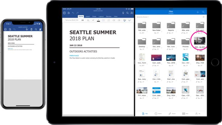 Microsoft updates Office, OneDrive iOS apps with dragand