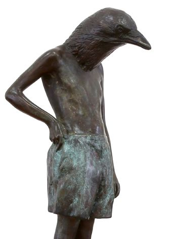 An original sculpture by Elizabeth Balcomb entitled: All that I am, bronze ed of 15, 51cm x 30cm (detail) #sculpture #bronze #ElizabethBalcomb #SouthAfricanArtist #SouthAfricanArt #Therianthrope For more please visit www.finearts.co.za