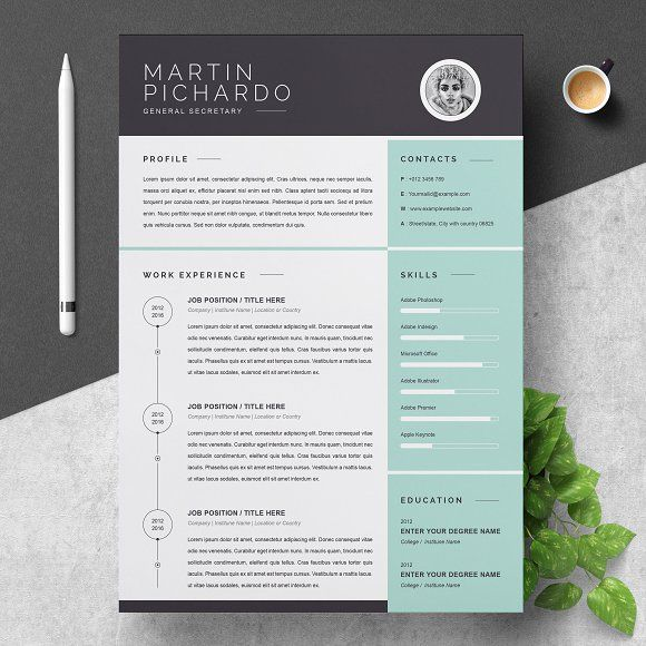 resume template by resumeinventor on creative market