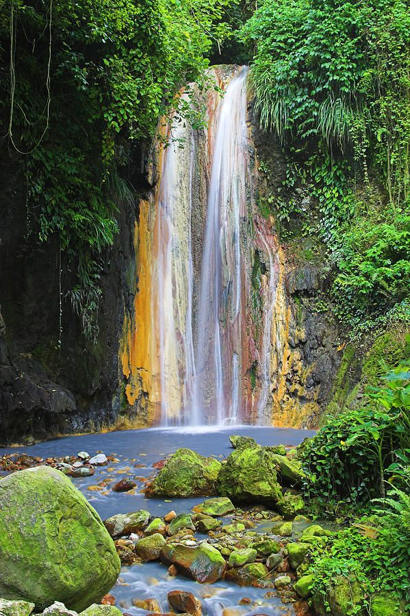 Diamond Falls - St. Lucia. Beautiful!! ASPEN CREEK TRAVEL
