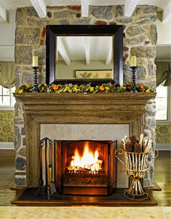 Simplicity Of Detail But Still Beefy Mantel. Dontu0027 Like Angular Lines At  Corners. Mantel IdeasFireplace IdeasDecor IdeasDecorating ...