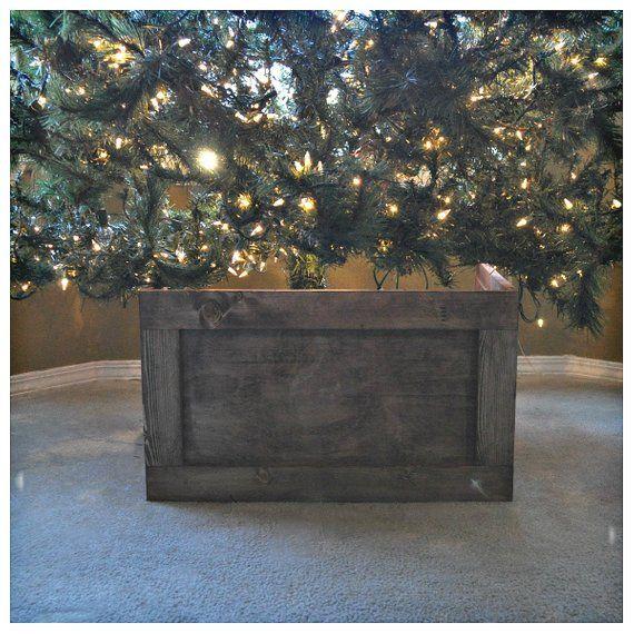 Foldable Wood Christmas Tree Box Collar Etsy Wood Christmas Tree Christmas Tree Box Tree Collar