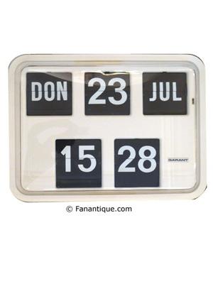 Horloge Flip 1975, objets de décoration, antiquités et Design