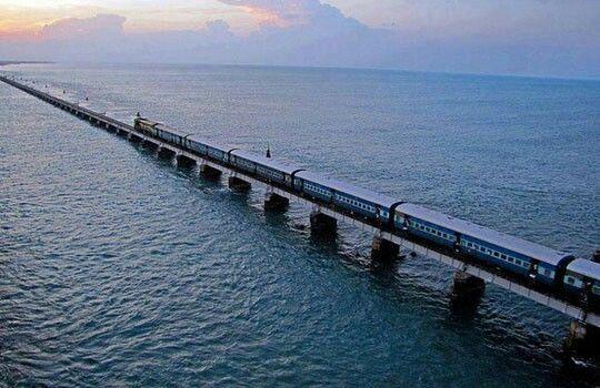 The Pamban bridge,  India.