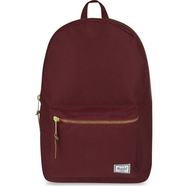 HERSCHEL SUPPLY CO Settlement backpack ($84) ❤ liked on Polyvore featuring bags, backpacks, accessories, windsor wine, padded bag, laptop rucksack, laptop bag, padded laptop backpack and zip bags